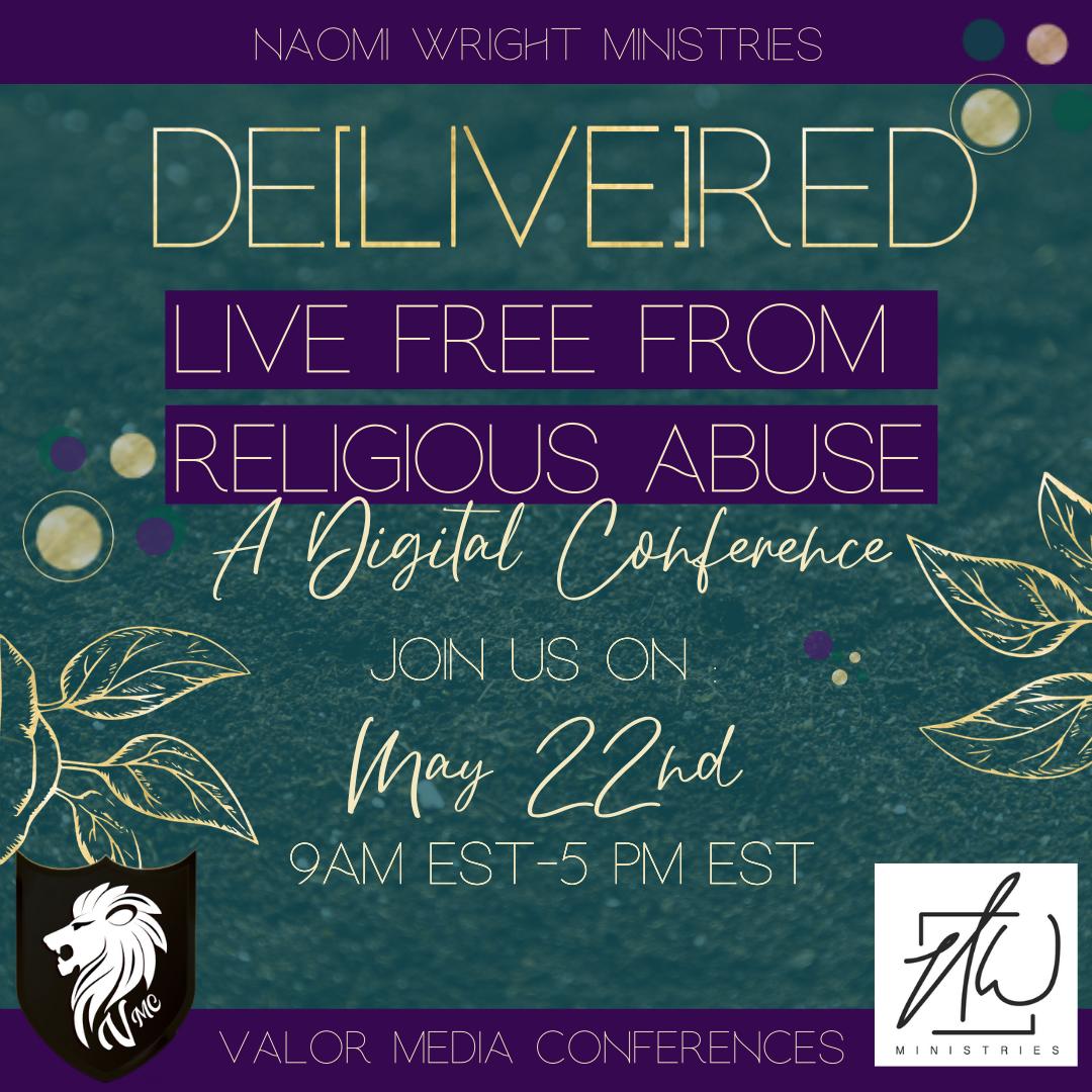 #LiveFreeConference #LiveFreeFromReligiousAbuse #ChristianConference  #ReligiousAbuse #SpiritualAbuse Christianevent  #DigitalConference